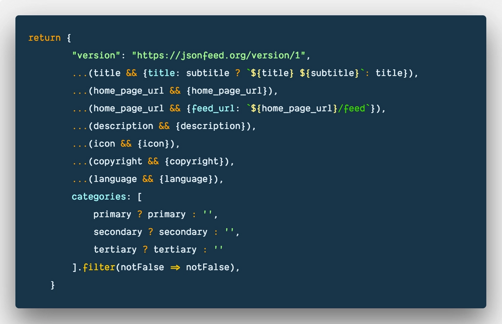 How to conditionally build an object in ES6