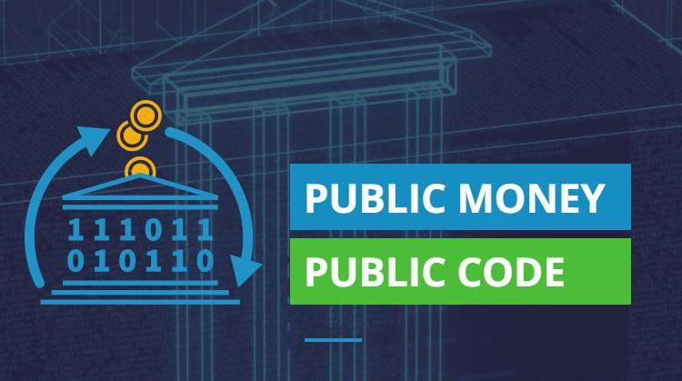 "Bild med text ""Public money, public code"""