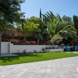 Backyard with turf Image