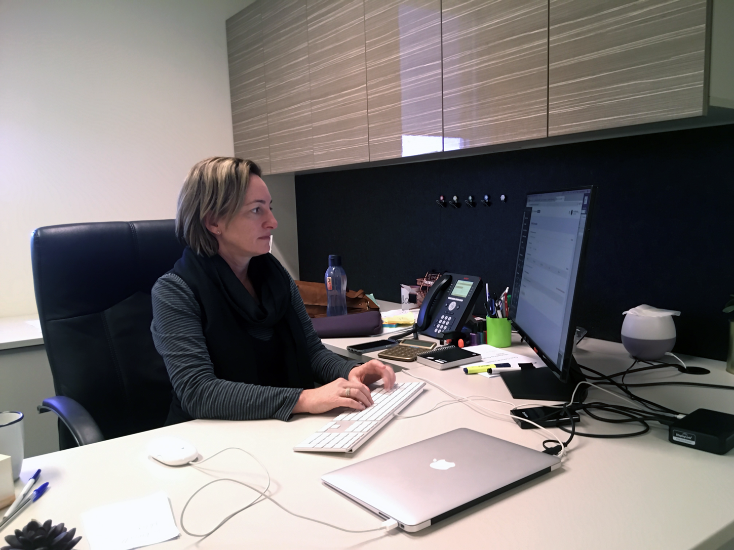 Psychologist and founder Alana Maley-Berg at work in her office at One Central Health