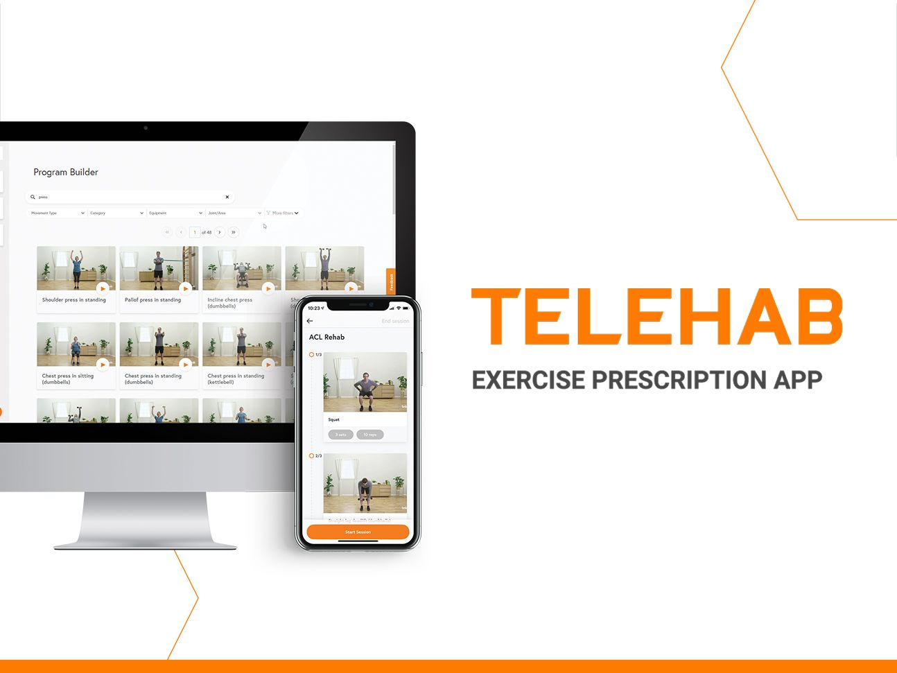 Telehab Exercise prescription app