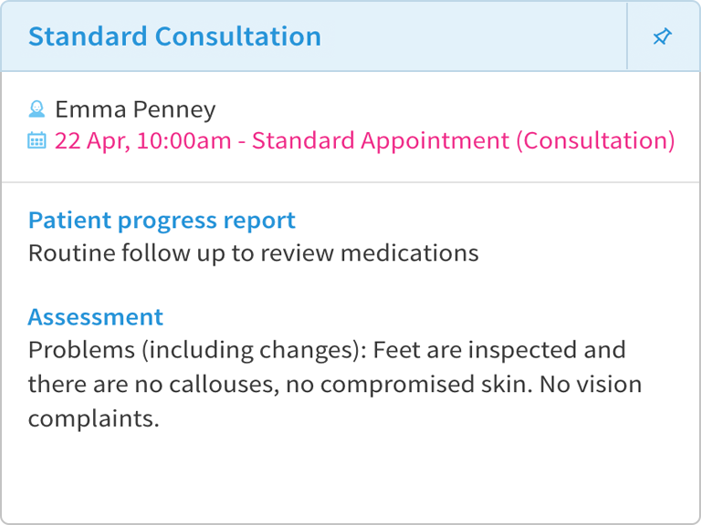 Treatment note with patient progress.