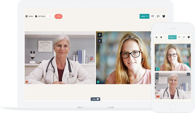 Doctor and patient communicating using Coviu
