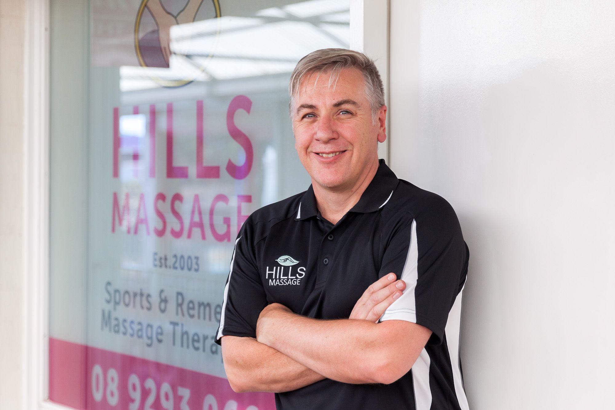 Hills Massage practice manager, Alec Rimmer.