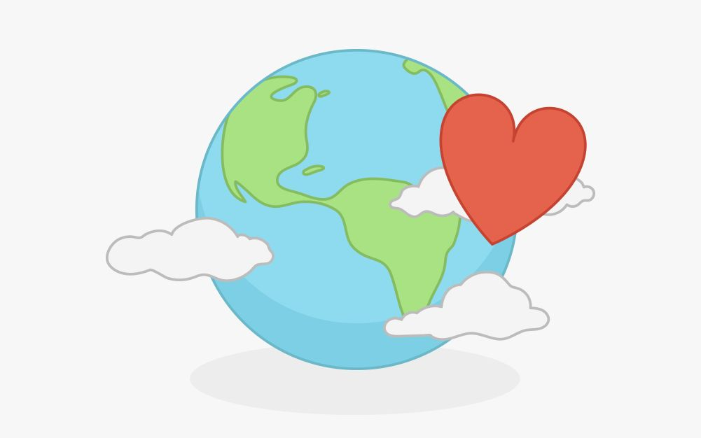 The earth with a heart