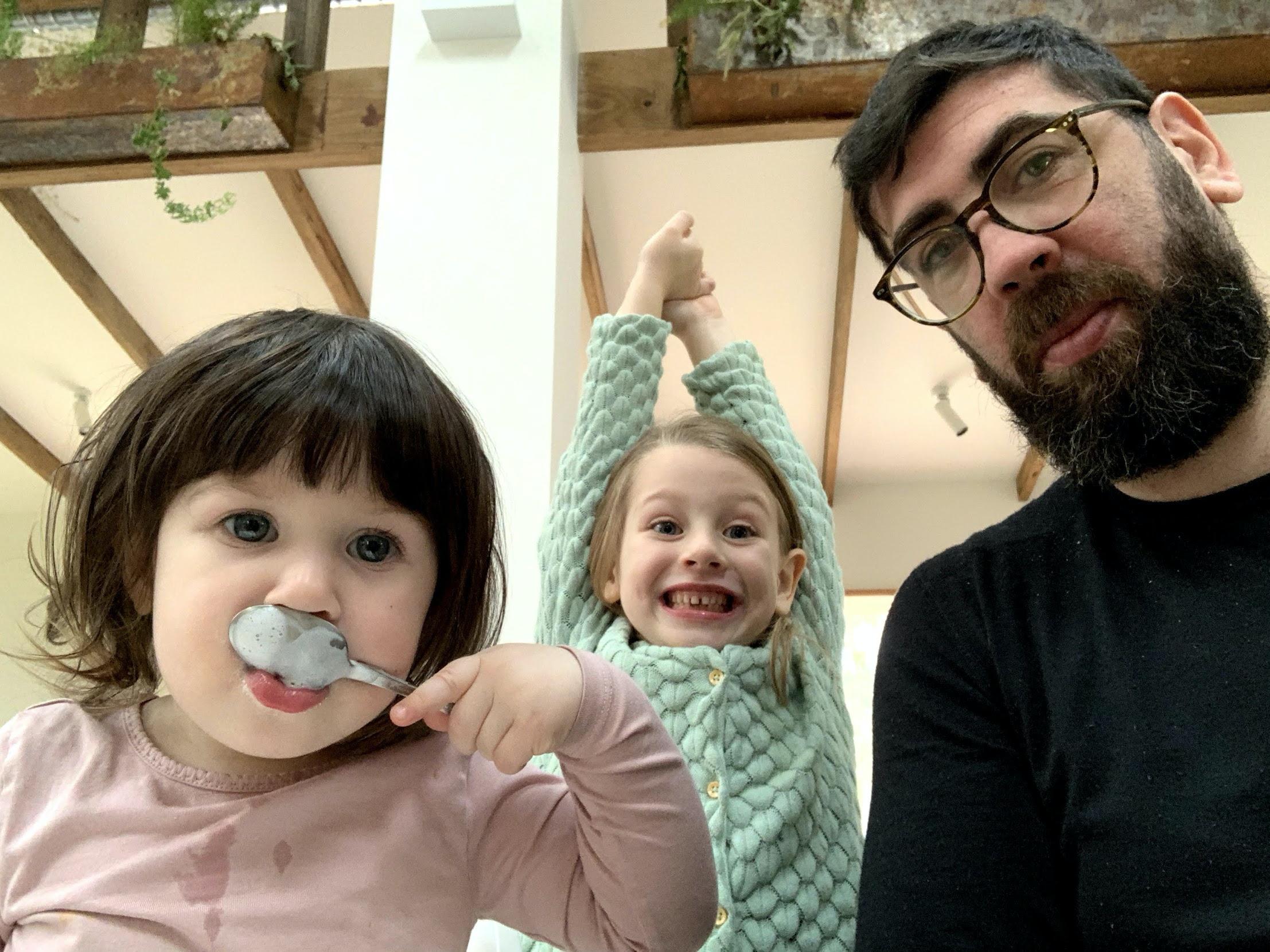 Cliniko founder Joel Friedlaender with his daughters