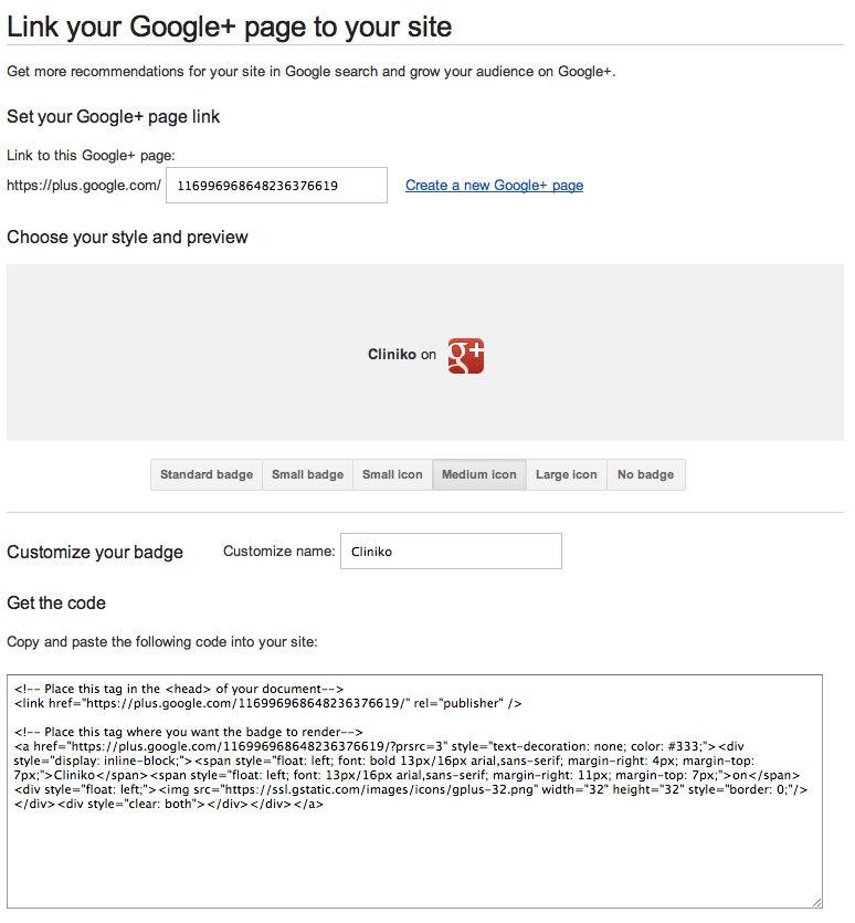 Google plus customization form/