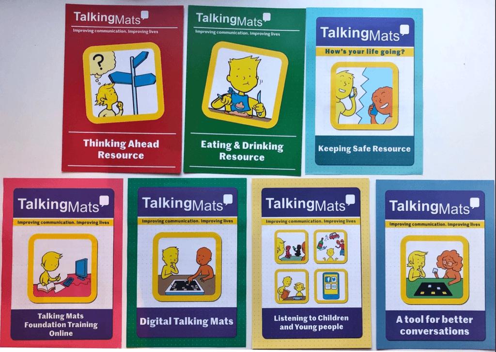 トーキングマットの各テーマのパンフレット表紙