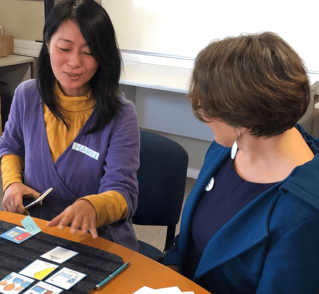 厚生労働省「障害福祉サービス等の提供に係る意思決定支援ガイドライン」モデル研修においても、トーキングマットの活用場面が紹介されています。