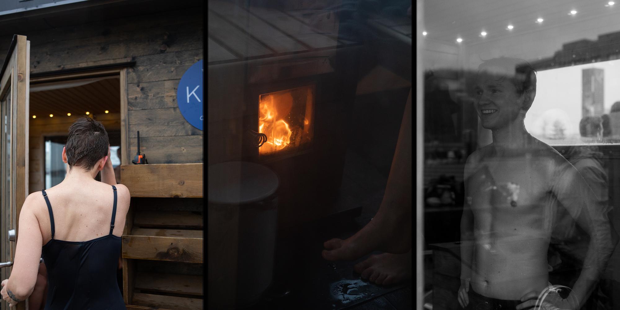 Vinterbading og sauna på Sørenga