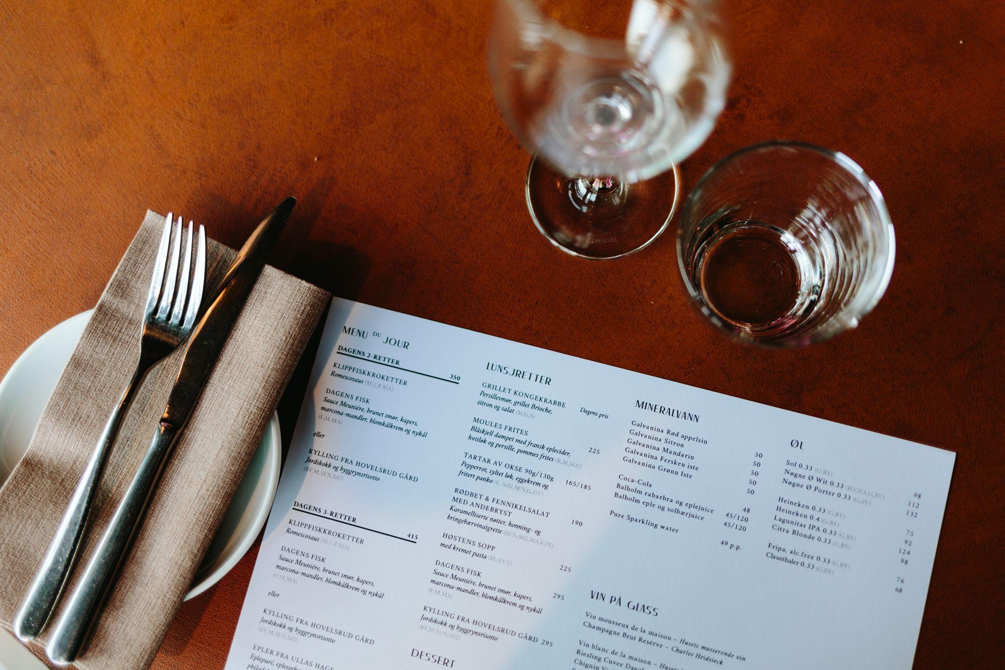 Brasserie Rivoli høstmeny