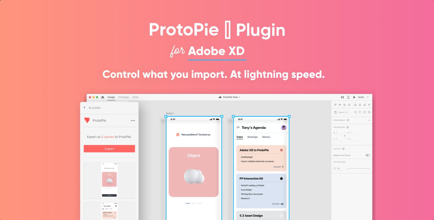 ProtoPie plugin for Adobe XD ads