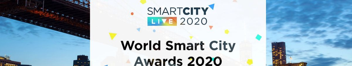 World Smart City Awards logo with the backdrop of NYC