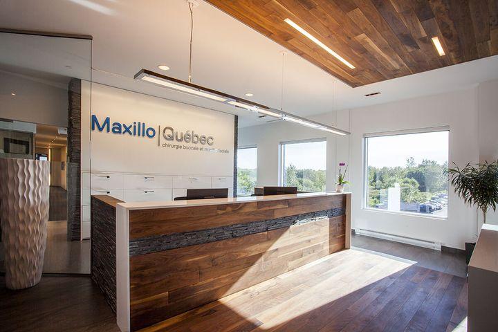 L'espace d'accueil de la clinique de Maxillo Québec à Lebourgneuf où vous serez reçu.