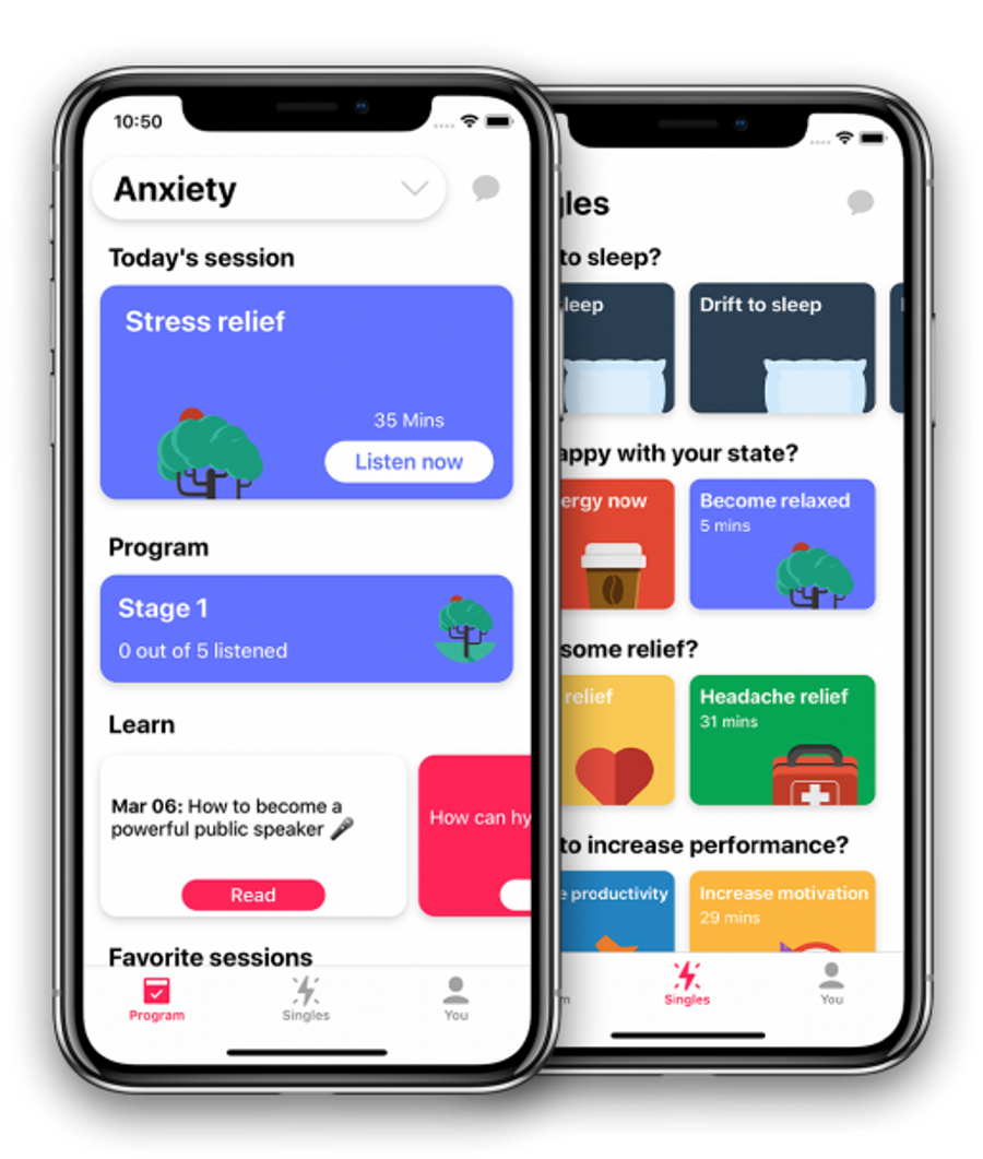 Mindset, an Australian startup, uses app-based hypnotherapy to help users overcome anxiety