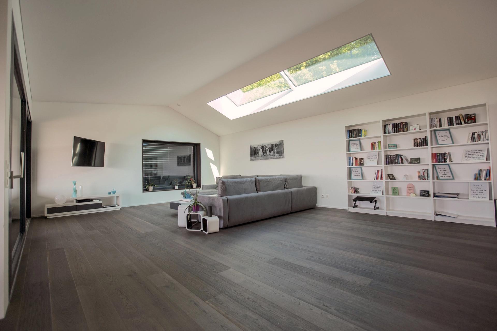 Dachfenster im Wohnzimmer