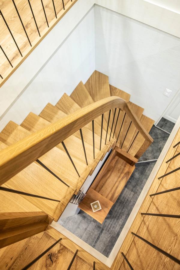 Wendeltreppe aus Holz