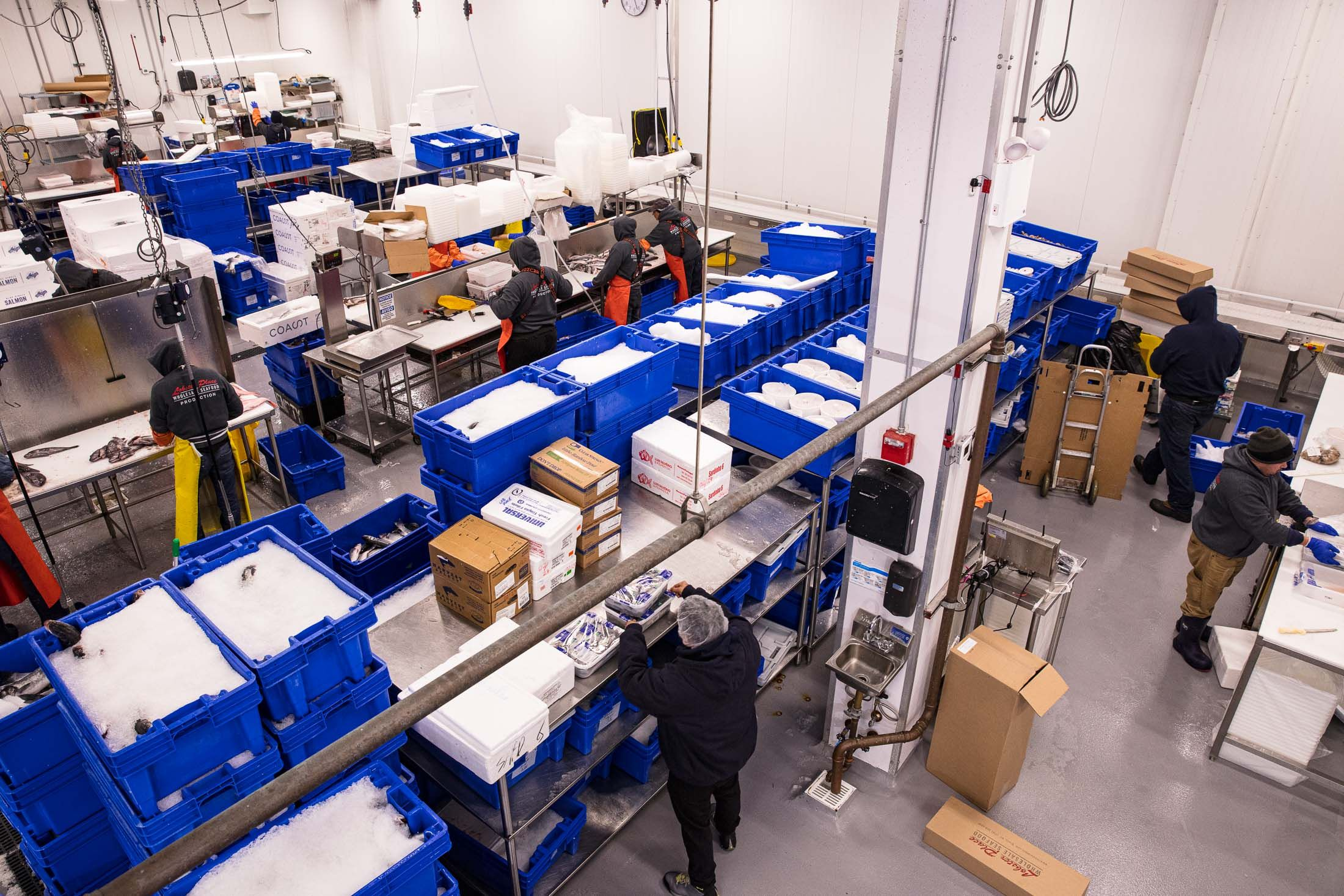 Lobster Place Wholesale packing and shipping facility in the Bronx