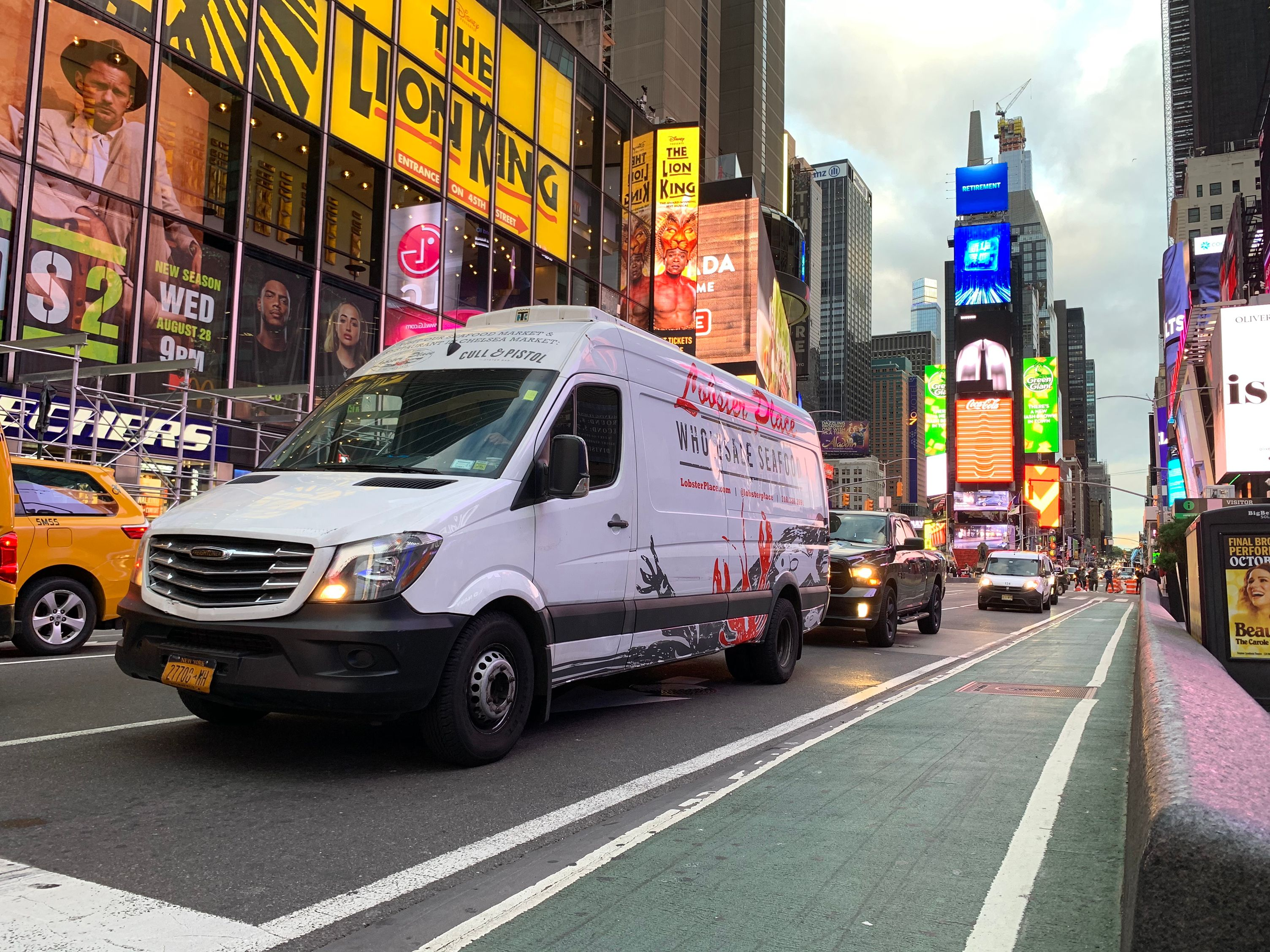 Lobster Place Wholesale van in Times Square