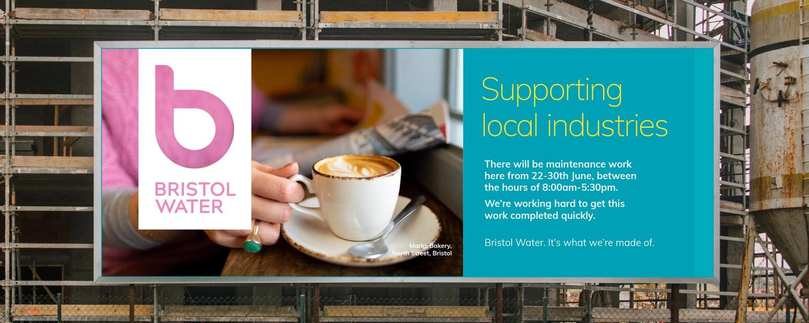 Bristol Water Billboard