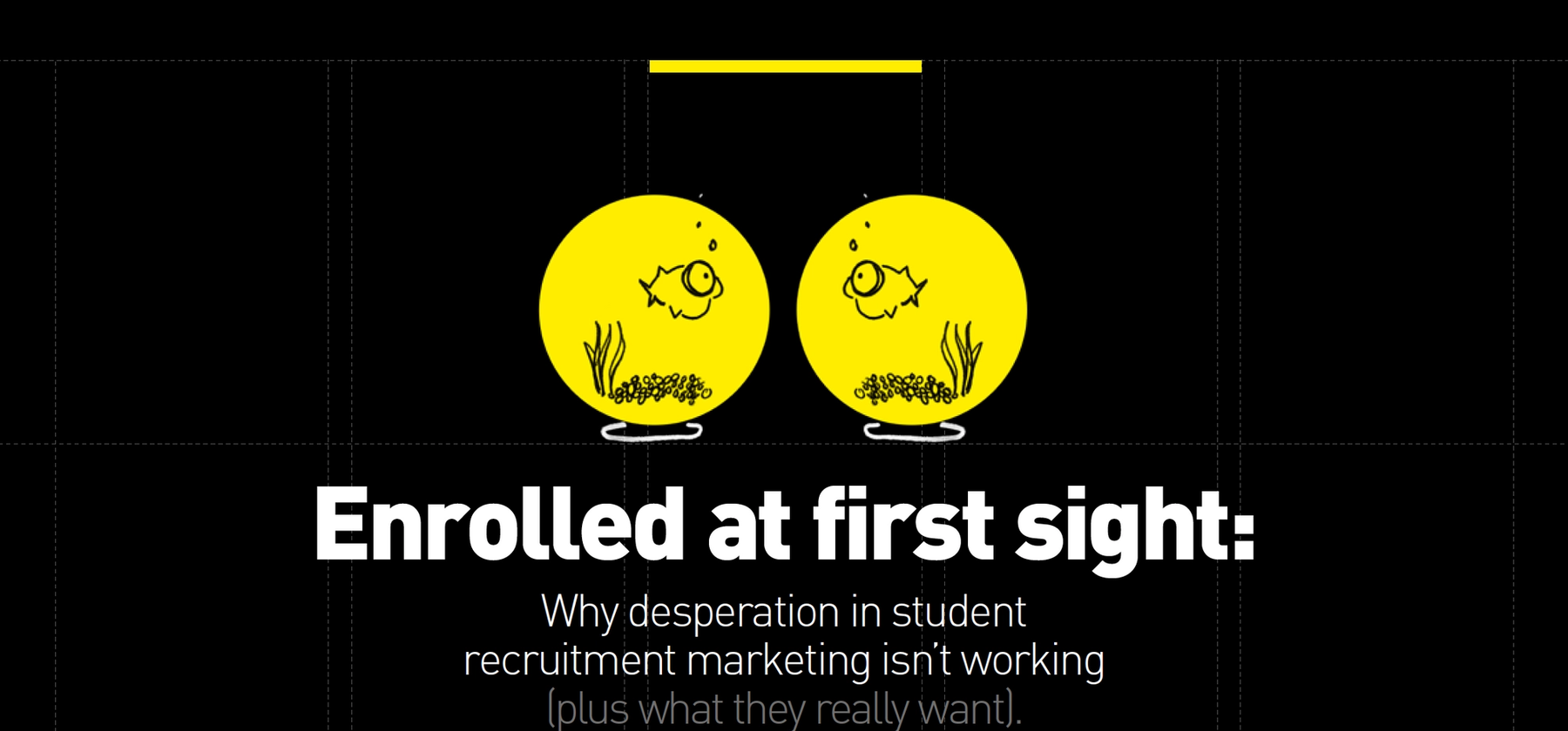 Why desperation in student recruitment marketing isn't working