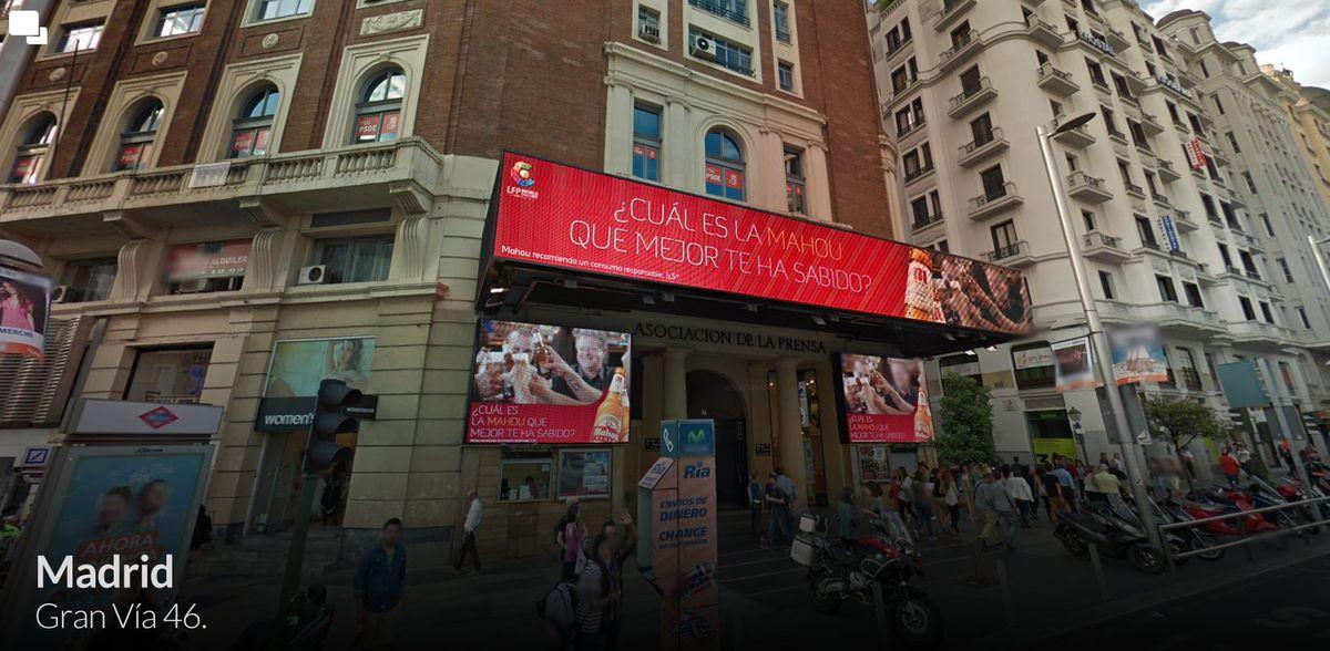 Gran Vía 46 - Prensa Madrid - Plaza del Callao 4k