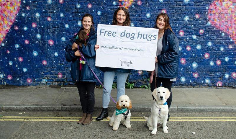 World Mental Health Day and free dog hugs
