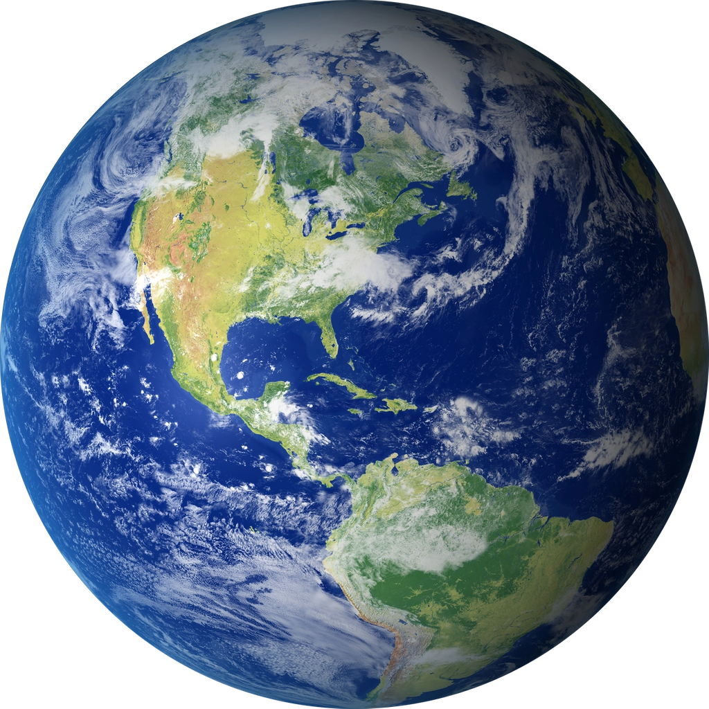 a sattelite view of the planet earth