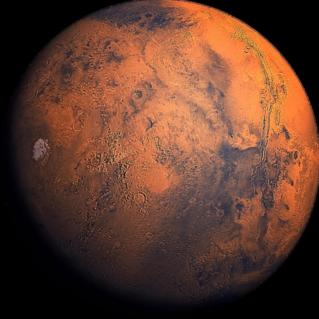 sattelite-view of the planet mars