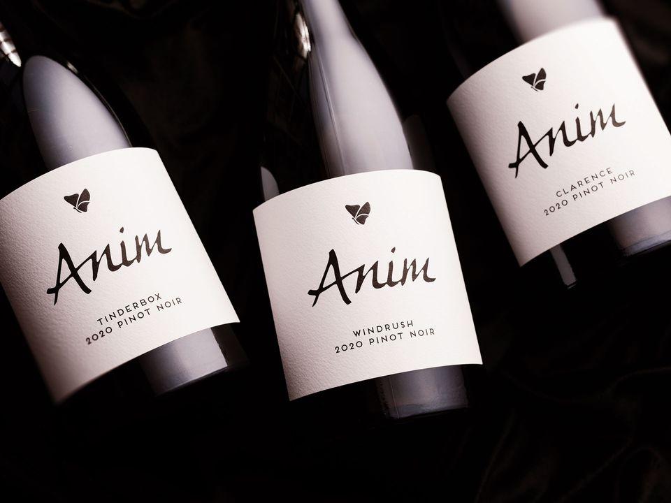 Three bottles of Anim pinot noir.