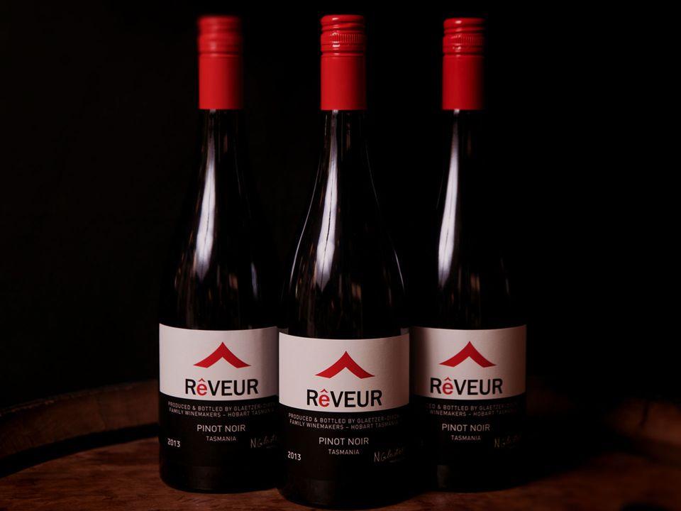 Three bottles of Rêveur pinot noir.