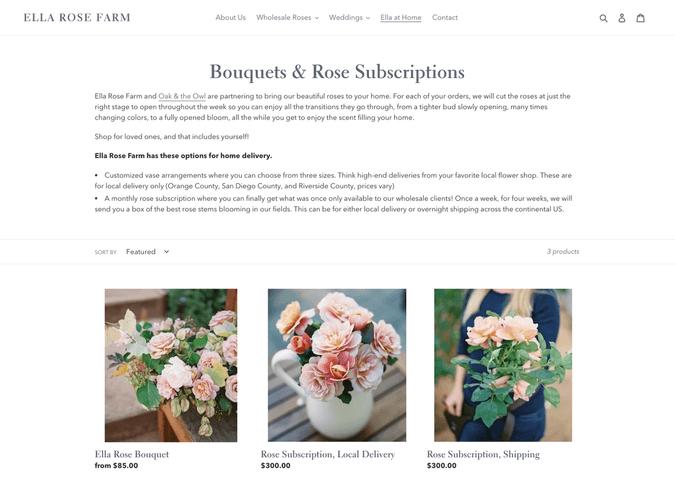 ella rose farm bouquet subscription