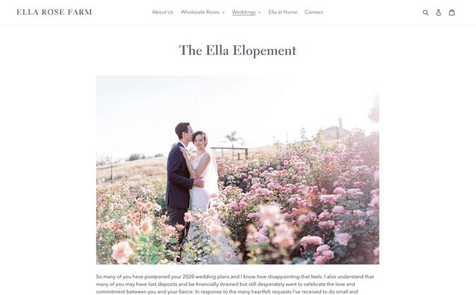 ella rose farm elopement