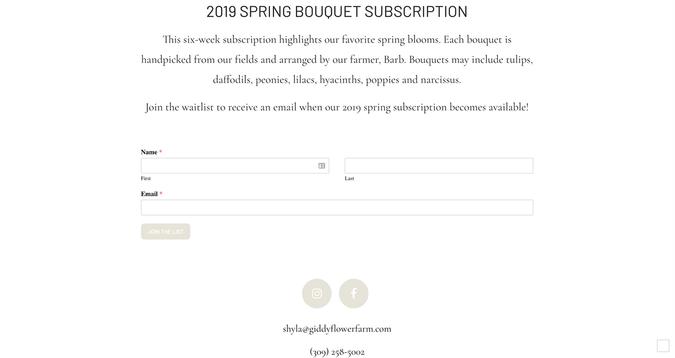 giddy flower farm subscription