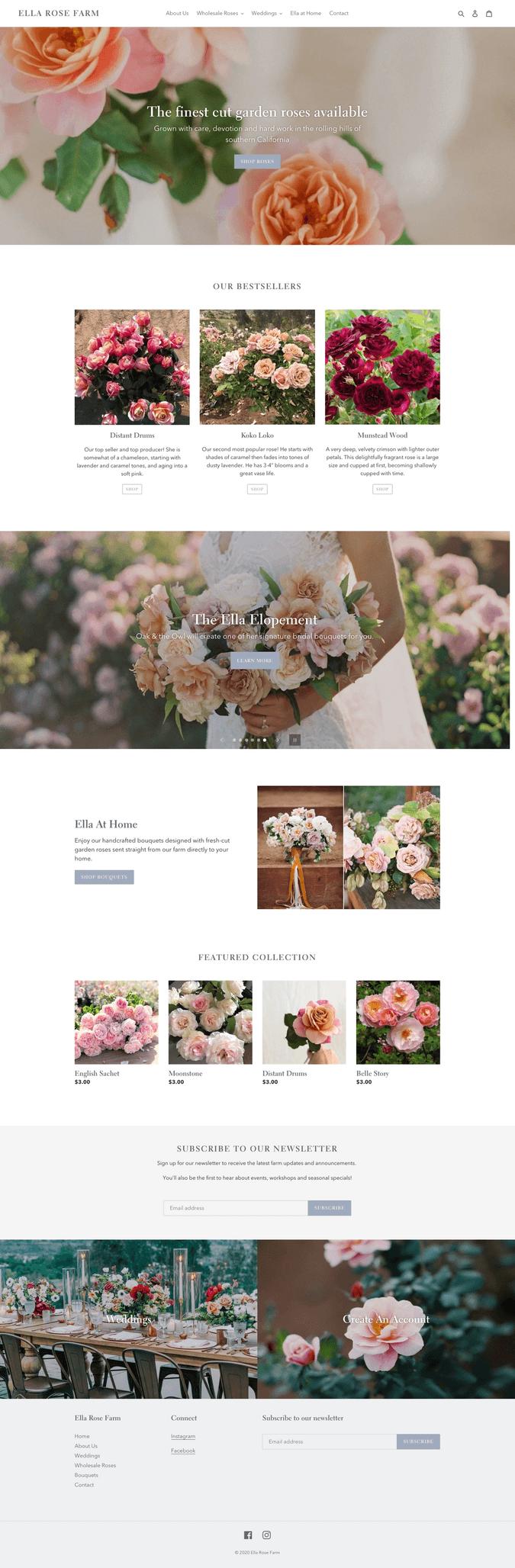 ella rose farm homepage