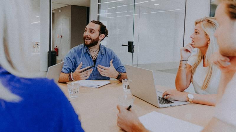 vergadering op kantoor