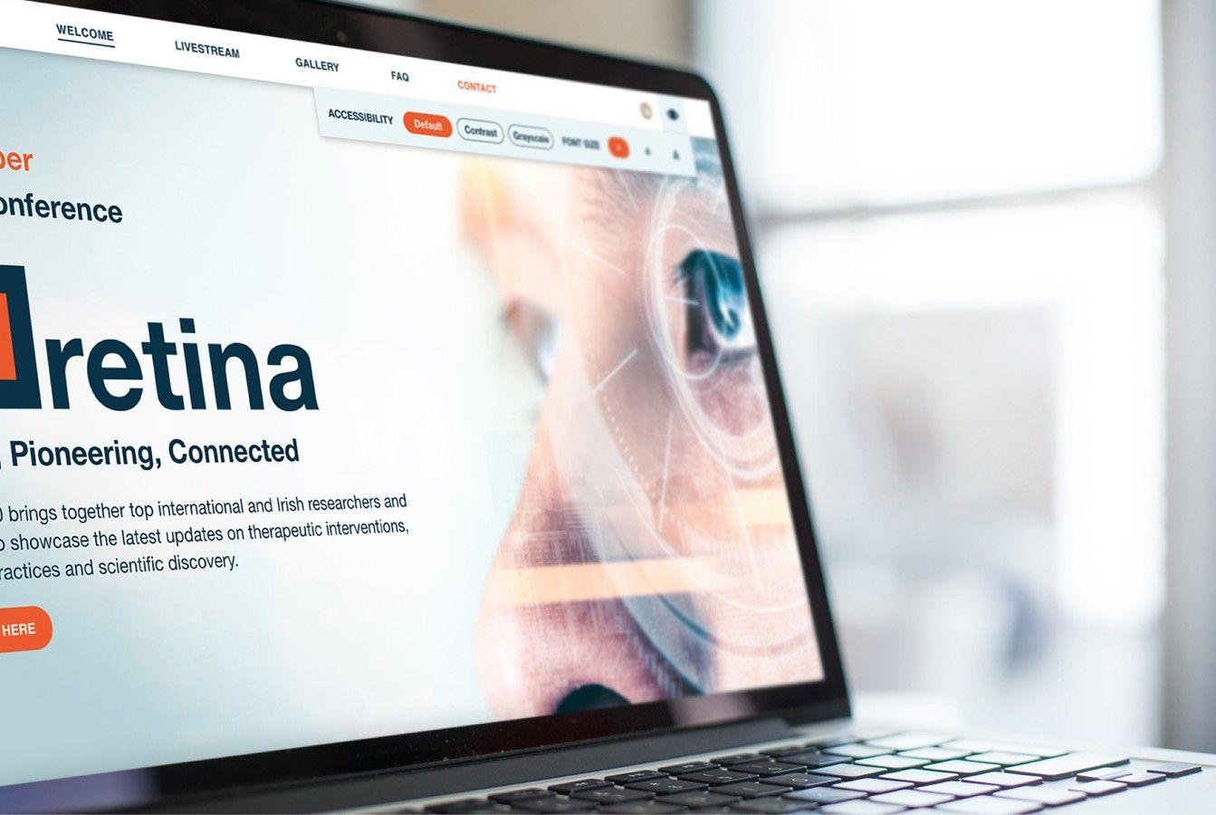 Fighting Blindness Responsive Website Retina 2020