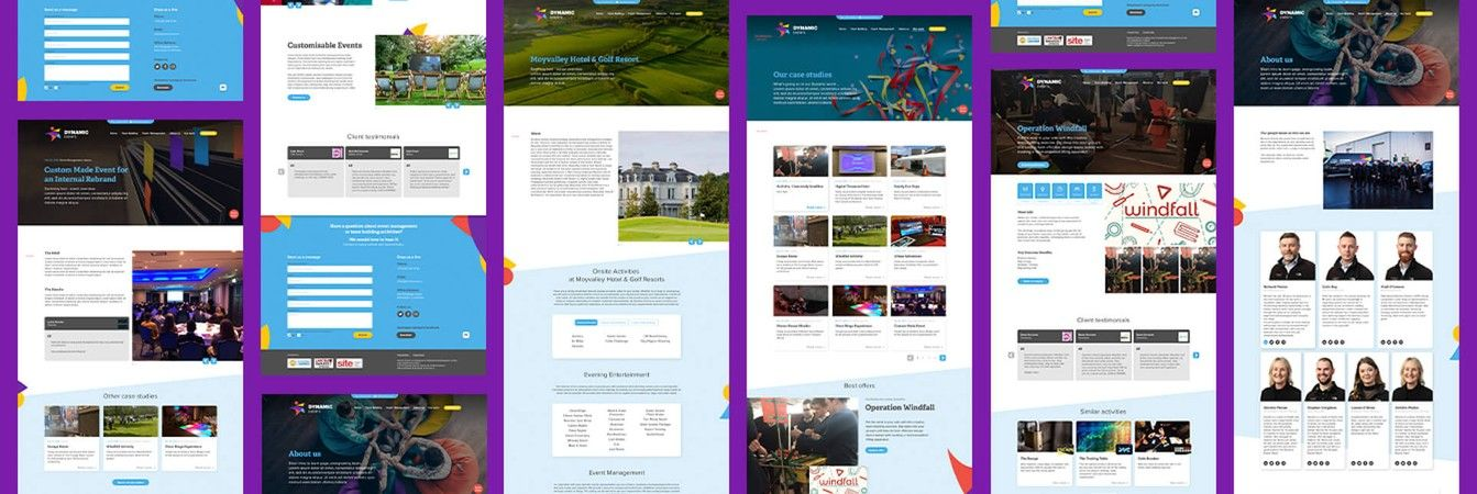 Dynamic Events Website Development