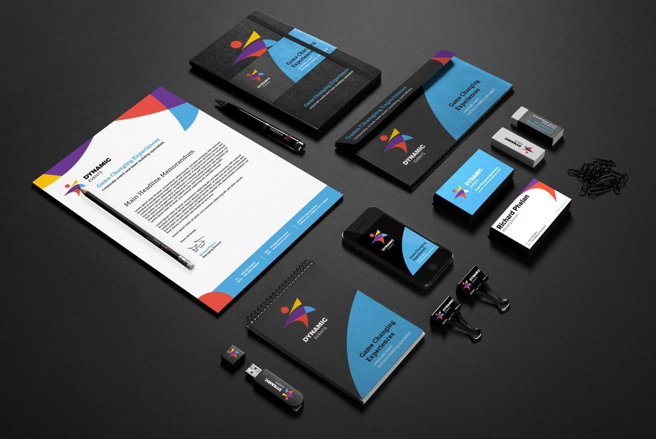 Dynamic Events Business Cards and Flyers