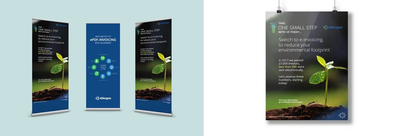 Allergan Healthcare Communications Banners