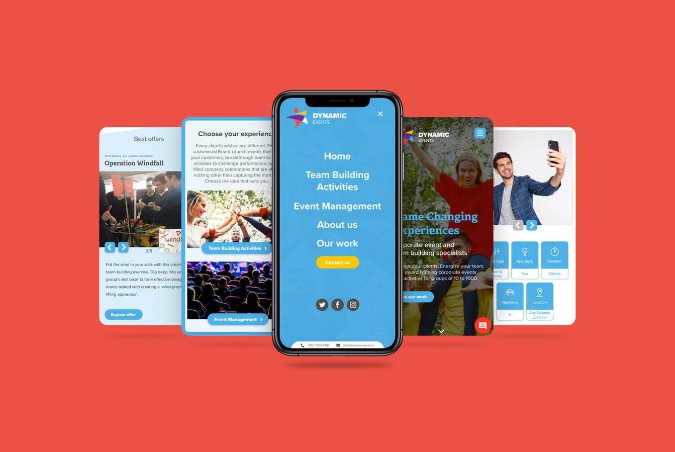 Dynamic Events Mobile Design