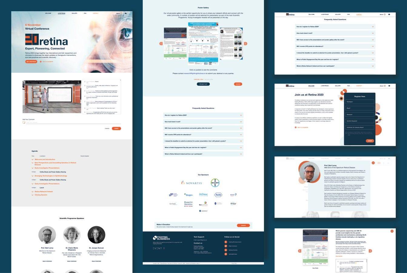Fighting Blindness Website Design Retina 2020