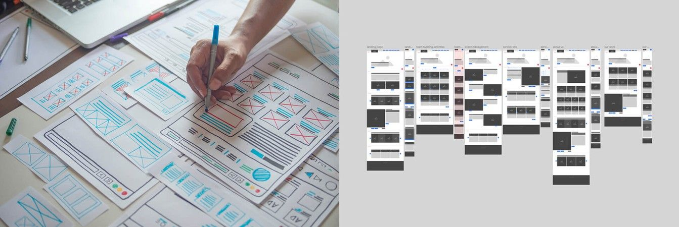 Dynamic Events Website Wireframes