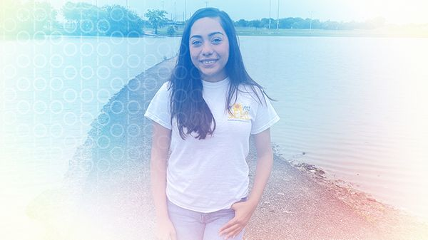 """Krystal Mireles, 18, says she has an """"instilled fear"""" of living near polluting industries and recurring chemical disasters. """"It's not matter of if, but when the next plant is going to explode."""" Courtesy photo."""