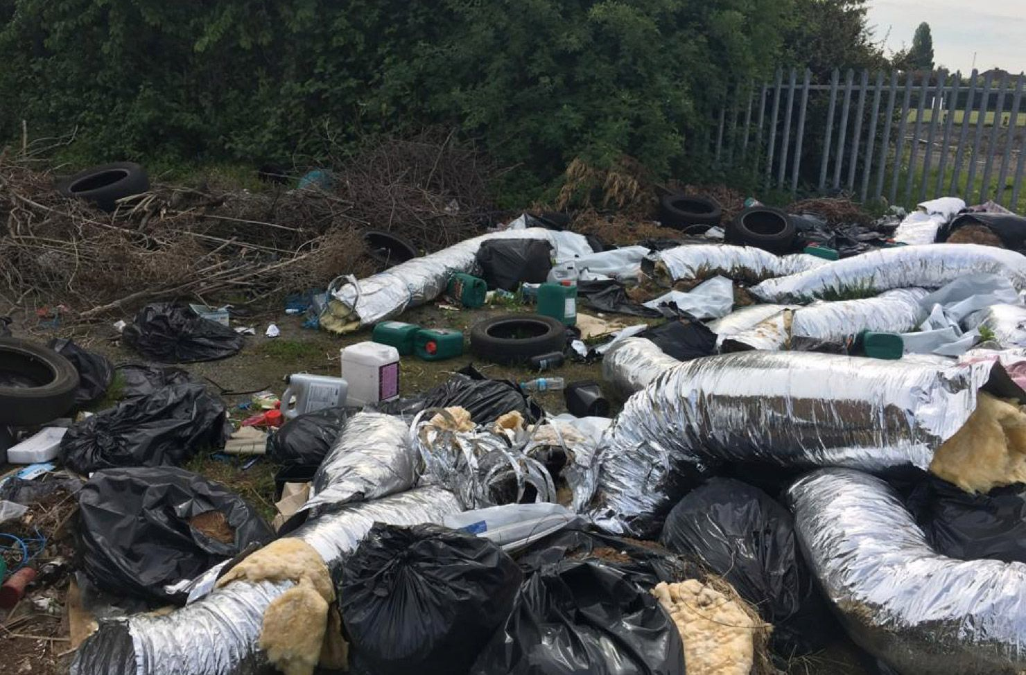 fly tipping site rubbish