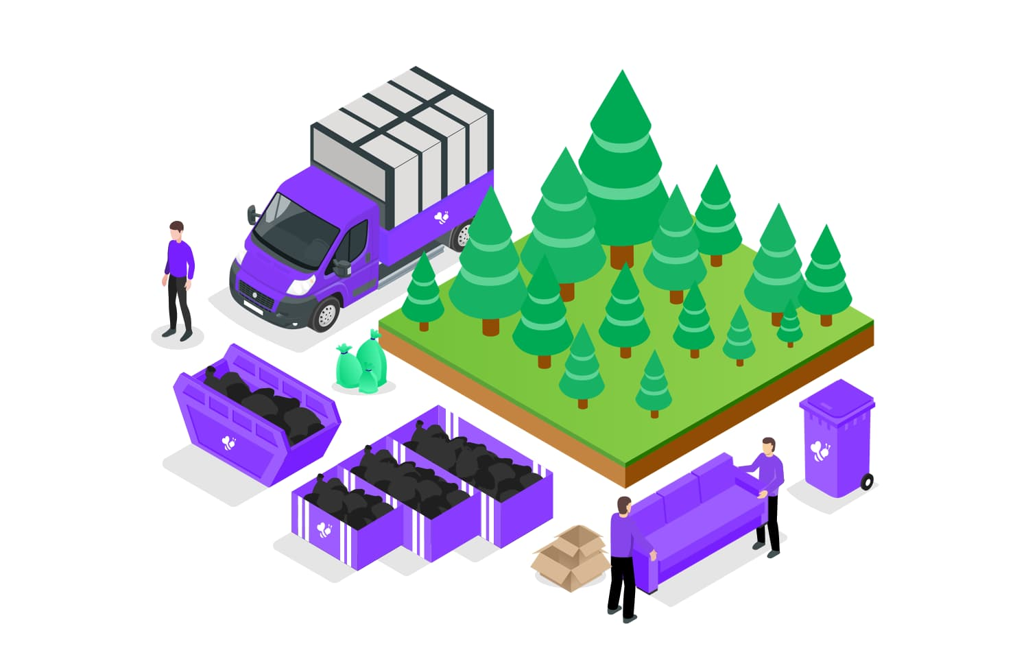 waste removal and trees graphic