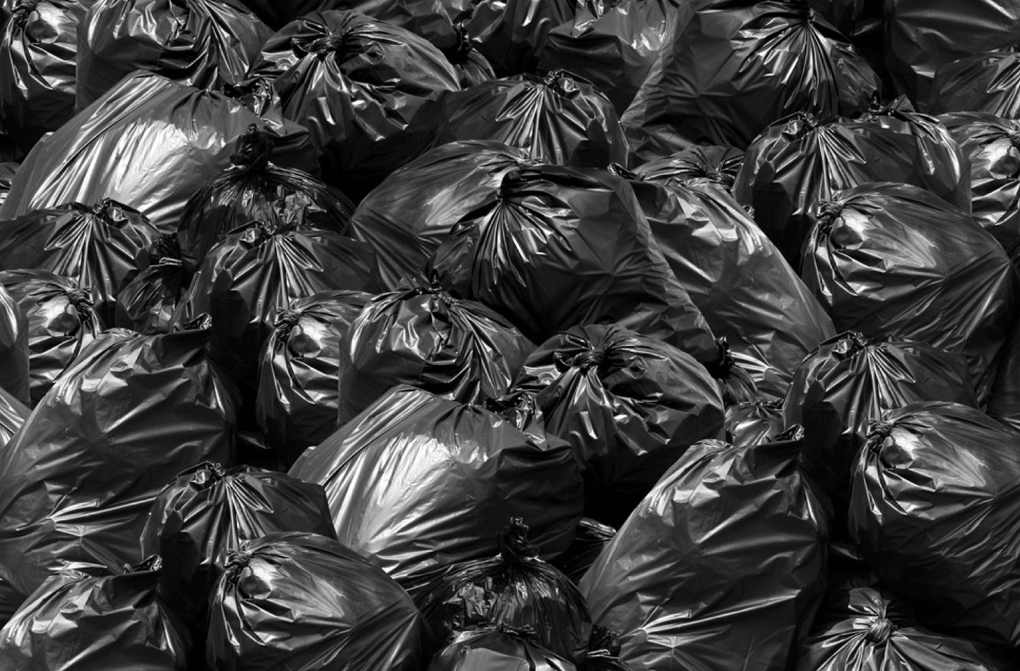 overfilled wheelie bins
