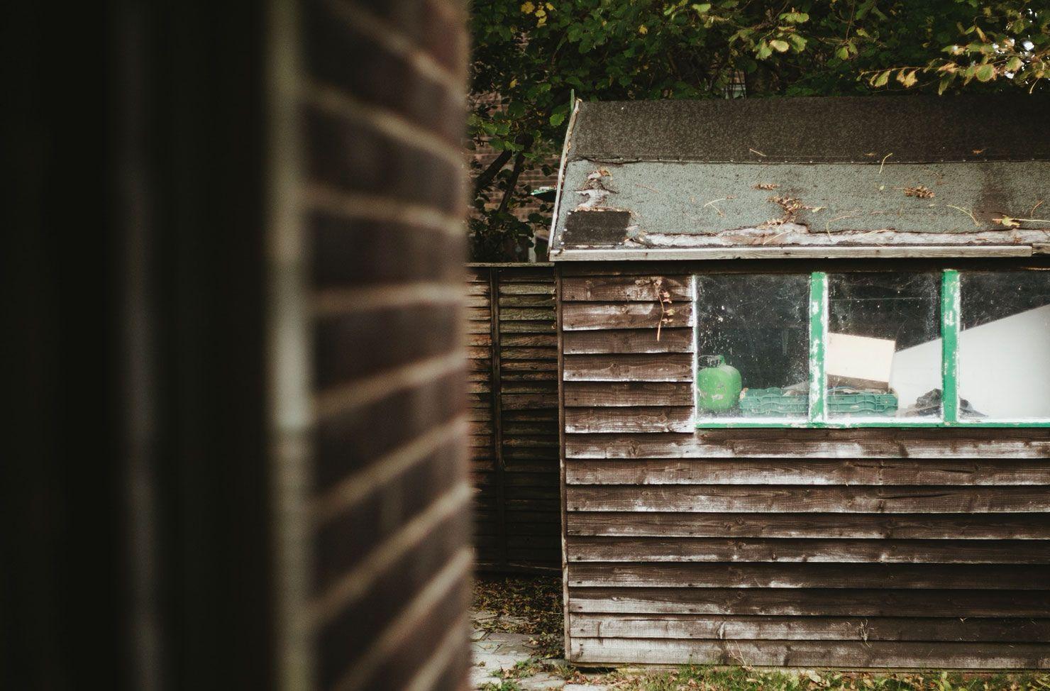 shed in back garden