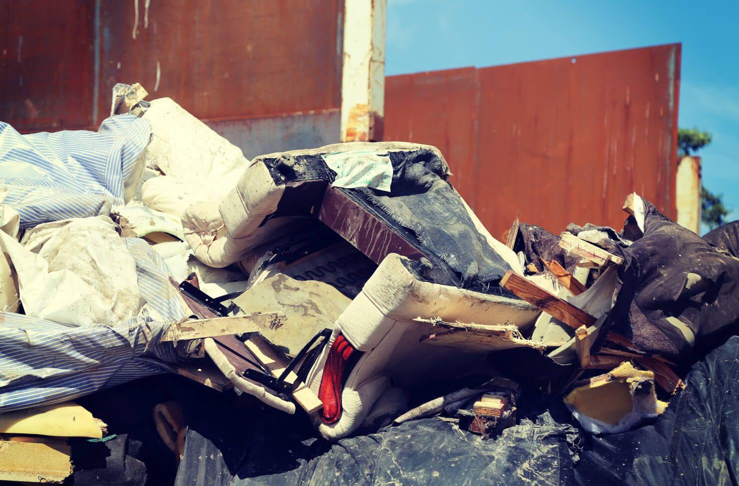 Sofas to be shredded