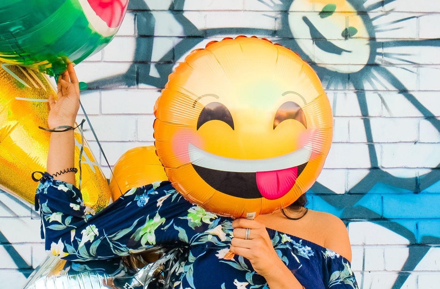 laughing balloon emoji